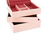 Stackables Mini Jewelry Tray Set Blush by Wolf