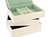 Stackables Mini Jewelry Tray Set Ivory by Wolf