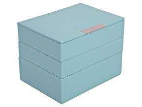 Stackables Mini Jewelry Tray Set Aqua by Wolf
