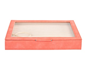 WOLF Large Ring Box with Window and LusterLoc (TM) in Coral