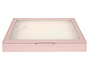 WOLF Large Ring Box with Window and LusterLoc (TM) in Powder Rose