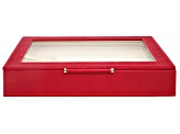 WOLF Medium Ring Box with Window and LusterLoc (TM) in Red