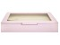 WOLF Medium Ring Box with Window and LusterLoc (TM) in Blush Pink