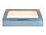 WOLF Medium Ring Box with Window and LusterLoc (TM) in Metallic Blue