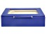 WOLF Small Ring Box with Window and LusterLoc (TM) in Royal Blue
