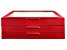 WOLF Large 3-Tier Jewelry Box with Window and LusterLoc (TM) in Red