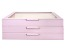 WOLF Large 3-Tier Jewelry Box with Window and LusterLoc (TM) in Blush Pink