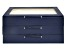 WOLF Medium Jewelry Box with Window and LusterLoc (TM) in Navy