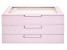 WOLF Medium Jewelry Box with Window and LusterLoc (TM) in Blush Pink