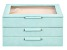 Medium 3-Tier Jewelry Box with Window and LusterLoc (TM) in Aqua