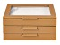 WOLF Medium Jewelry Box with Window and LusterLoc (TM) in Camel