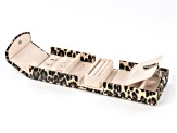 WOLF Travel Snap Jewelry Case with LusterLoc (TM) in Tan Leopard