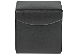 WOLF Travel Snap Jewelry Case with LusterLoc (TM) in Black