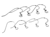 Sterling Silver Shepherd's Hook Earring Finding Set of 4 Pairs in 2 Styles