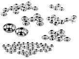 Sterling Silver Spacer Beads in 7 Sizes Appx 82 Pieces
