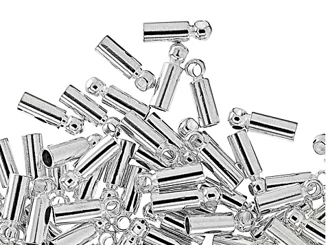 Cord Ends, Heavy, 1.8 mm (.070 in), .925 Sterling Over Base Metal, Appx 144 Pieces