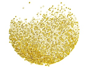 Crimp Beads, Size #1, 2.0mm (.078 in), Gold Tone, Appx 1oz (28.35 g), Appx 1,400 Pieces