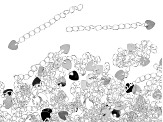 Extension Chain, 2 in (5.08 cm), Heart, .925 Sterling Over Base Metal, Appx 144 Pieces