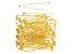 Head Pins, 2 in (50.8 mm), 21 Gauge (.028 in) Fancy, Gold Tone, Appx 144 Pieces