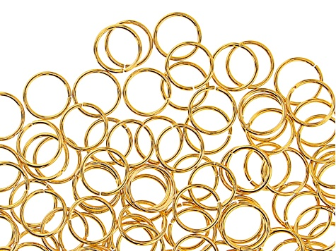 Jump Rings, 10 mm (.4 in), Gold Tone, Appx 144 Pieces
