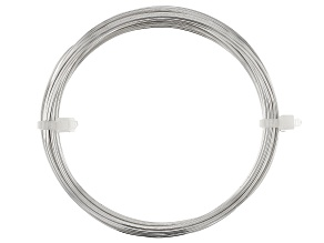 20 Gauge Round German Style Wire in Silver Tone Appx 6 Meters