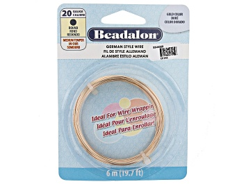 Picture of German Style Round Wire in Gold Tone 20 Gauge Appx 0.8mm in Diameter Appx 6m Total