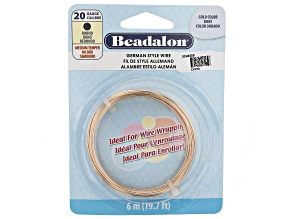 German Style Round Wire in Gold Tone 20 Gauge Appx 0.8mm in Diameter Appx 6m Total