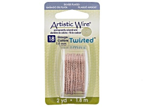 Twisted Artistic Wire in Rose Gold Tone 18 Gauge Appx 1mm in Diameter Appx 2 Yards Total