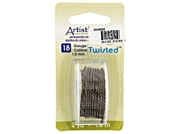 Picture of Twisted Artistic Wire in Gunmetal Tone 18 Gauge Appx 1mm Diameter Appx 2 Yards Total