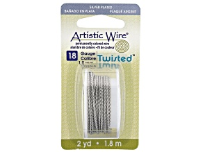 Twisted Artistic Wire in Stainless Steel Tone 18 Gauge Appx 1mm Diameter Appx 2 Yards Total