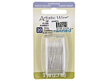 Picture of Twisted Artistic Wire in Tarnish Resistant Silver Tone 20 Gauge Appx 0.8mm in Diameter Appx 3 Yards