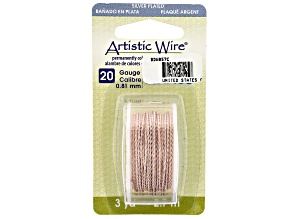 Twisted Artistic Wire in Rose Gold Tone 20 Gauge Appx 0.8mm in Diameter Appx 3 Yards Total