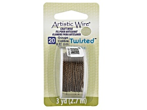Twisted Artistic Wire in Antiqued Brass Tone 20G Appx 0.8mm Diameter Appx 3 Yards Total