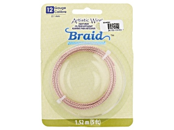 Picture of Artistic Wire Round Braid in Rose Gold Tone 12 Gauge Appx 2mm in Diameter Appx 5' Total