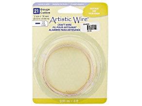 Artistic Flat Wire in Gold Tone Appx 0.75x3mm in Diameter Appx 3' Total