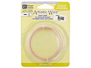 Artistic Flat Wire in Rose Gold Tone Appx 0.75x3mm in Diameter Appx 3' Total