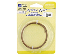 Artistic Flat Wire in Antiqued Brass Tone Appx 0.75x3mm in Diameter Appx 3' Total