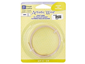 Artistic Flat Wire in Gold Tone Appx 0.75x5mm in Diameter Appx 3' Total