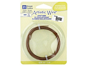 Artistic Flat Wire in Antiqued Brass Tone Appx 0.75x5mm in Diameter Appx 3' Total