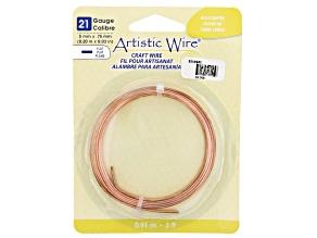 Artistic Flat Wire in Copper Tone Appx 0.75x5mm in Diameter Appx 3' Total