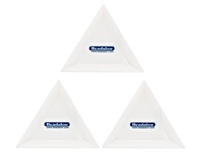 Tri-Trays Set of 3 in White Appx 1x8mm