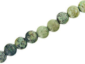 """Turquoise Simulant Appx 8mm Round Large Hole Bead Strand Appx 8"""" Length"""