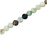 "Multi-Color Quartzite Appx 8mm Round Large Hole Bead Strand Appx 8"" Length"
