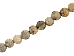 "African Opal Appx 8mm Round Large Hole Bead Strand Appx 8"" Length"