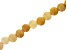 Yellow Quartzite Appx 8mm Round Large Hole Bead Strand Appx 8