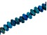 "Blue Agate Appx 8mm Rondelle Large Hole Bead Strand Appx 8"" Length"