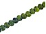 "Serpentine Appx 8mm Faceted Rondelle Large Hole Bead Strand Appx 8"" Length"