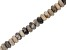 """Fossil Stone Appx 8mm Rondelle Large Hole Bead Strand Appx 7-8"""" Length"""