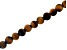Matte Tiger Eye Appx 8mm Round Large Hole Bead Strand Appx 8