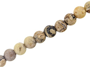 "Matte African Opal Tiger Eye Appx 8mm Round Large Hole Bead Strand Appx 8"" Length"